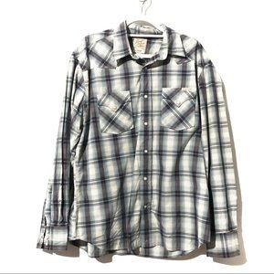 Lucky Brand Western Plaids Shirt Button Down